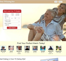 Dating website for over 70